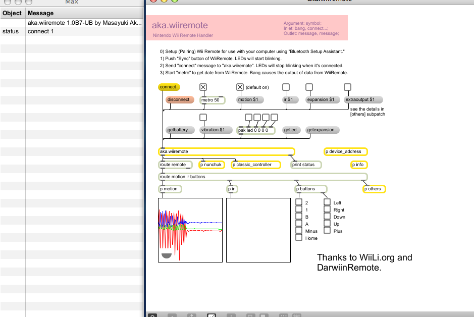 Connection To Position Data P Ir Of Wii Remote Maxmsp Forum