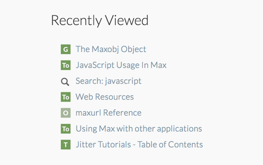 Max's new documentation browser was created with an integrated web browser in a patcher window