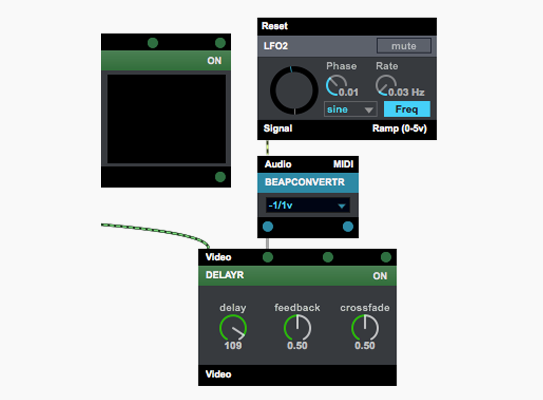 Use BEAP signals to control Vizzie modules