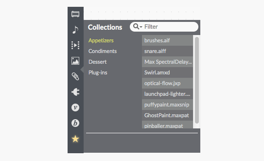 Drag files out of collections into the patcher